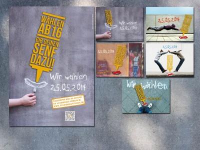 Plakat- und Postkartenaktion Jugendratswahlen Lörrach