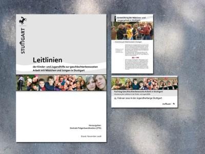 Broschüre und Folder Jugendamt Stuttgart