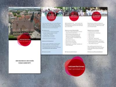 Folder und Logo Netzwerkerinnen Bad Cannstatt