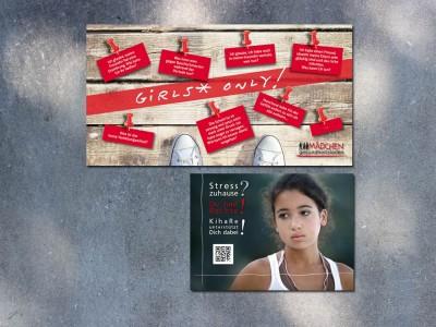 Postkarten MädchenGesundheitsladen Stuttgart und KihaRe Reutlingen