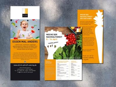 """Rollup """"Schulessen"""" und Speisekarte """"Woche der Nachhaltigkeit"""", Ullrich Pittroff Catering"""